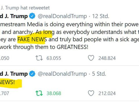 "Donald Trump: ""Fake News"""
