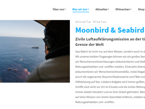 Homepage von Sea-Watch